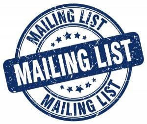 mailinglijst opbouwen